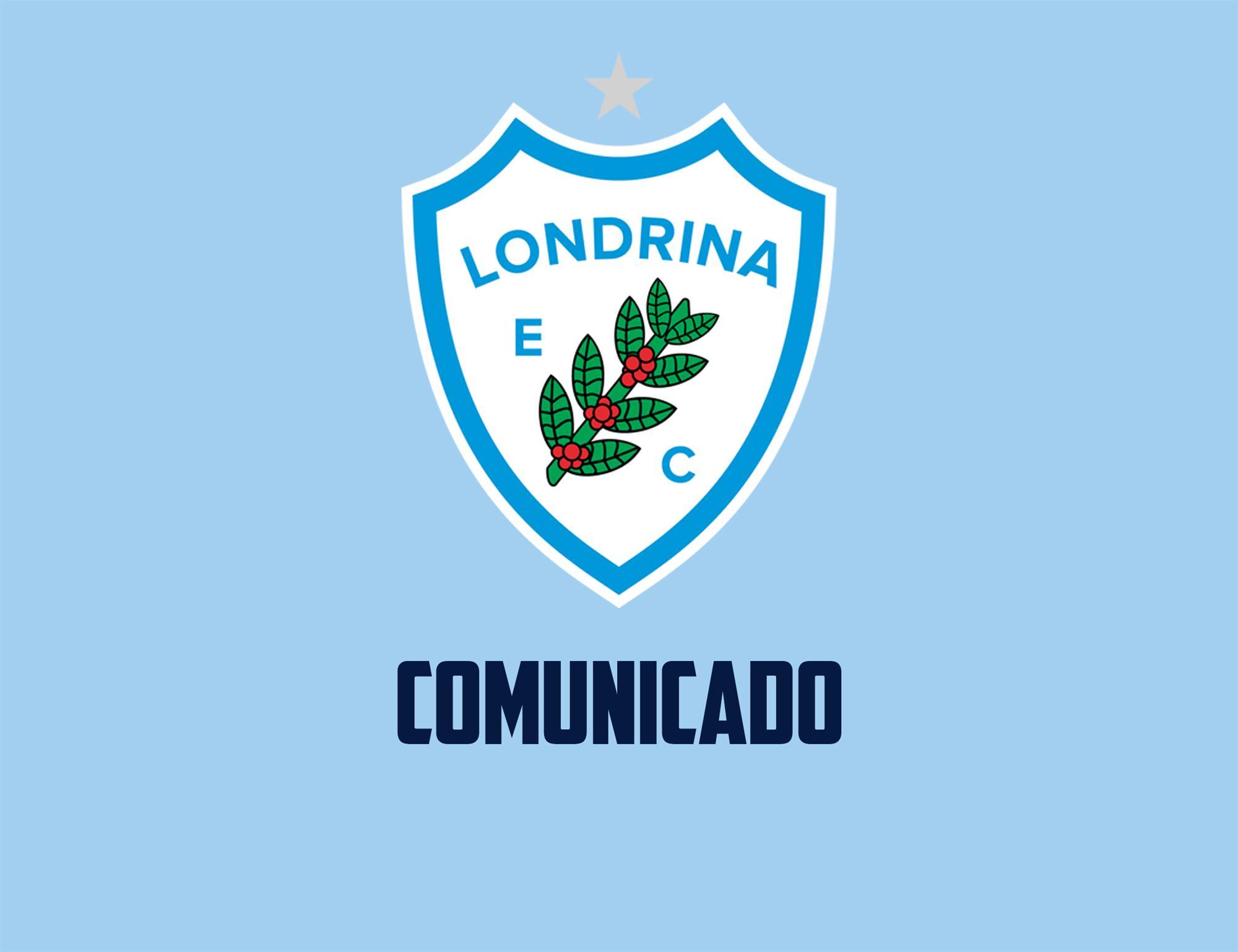 Comunicado Oficial: Escolinha do Londrina Esporte Clube